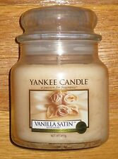 Yankee Candle - VANILLA SATIN - 14.5 oz - RARE AND HARD TO FIND SCENT!!