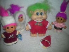 Lot of (4) Trolls -Three are Russ with tag on one only