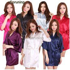 Women Satin Silk Dressing Gown Wedding Bride Bridesmaid Robe Bridal robe BR013