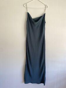 Ladies Blue Slip Dress With Chain Straps Size 8