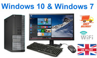 FAST CHEAP DELL/HP CORE i5 DESKTOP FULL SET PC & TFT 16GB WINDOWS 10 240GB SSD