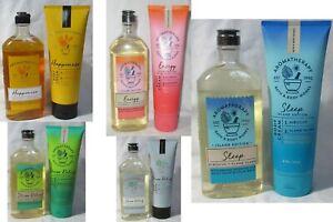 Bath & Body Works AROMATHERAPY Body Wash & Foam Bath + Body Cream Set Lot of 2
