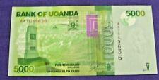 UGANDA CURRENCY 5,000 UGANDAN SHILLINGS 2010  UNC