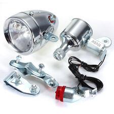12V 6W Motocycle Bicycle Bike Friction Generator Dynamo Headlight Tail Light Set