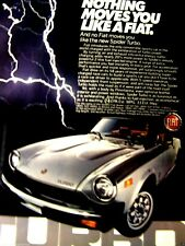 """1981 Fiat Spider Turbo Nothing Moves You Like A Fiat-Original Print Ad 8.5 x 11"""""""