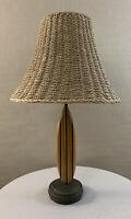 Vintage Modern Tiki Teak Surfboard 2003 Pacific Coast Lighting Lamp Signed