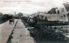 Letchworth Norton Road Wilbury Road ? unused sepia old postcard Valentines Good