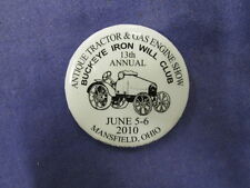 Antique Tractor & Gas Engine Show 13th Annual 2010 Mansfield Ohio Pinback #20