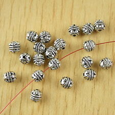 40pcs Tibetan silver flower spacer beads h2443