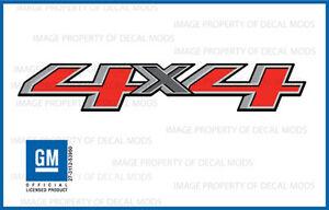 2 - 2016 4x4 Decals  F stickers Parts Chevy Silverado GMC Sierra Bed Side 1500