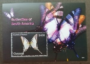 [SJ] Guyana Butterflies Of South America 2006 Insect (ms) MNH