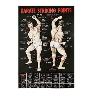 Karate Striking Points Man Cave Tin Sign Metal Sign Metal Poster Metal Decor