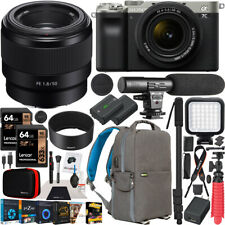 Sony a7C Mirrorless Full Frame Camera Silver 2 Lens Kit 28-60mm + 50mm Bundle