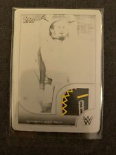 2016 Topps WWE Neville Shirt Relic 3 Color Card Printing Plate 1/1