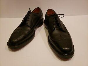Florsheim Vintage Imperial 5 Nail V Cleat Longwing Black Kenmoor #92604 9C RARE!