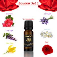 Essential Oils Set 1 Geranium Clary Sage Ylang Ylang Lavender Jasmine Rose