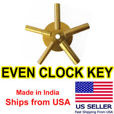 5-in-1 Universal Brass Clock Winding Key | EVEN 2-4-6-8-10 | Free Shipping