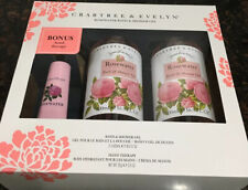 Crabtree & Evelyn Rosewater Bath & Shower Gel Gift Set 2x16.9oz Hand Therapy