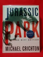 Jurassic Park The Gift Edition 1993 Hardcover Book Autographed Michael Crichton