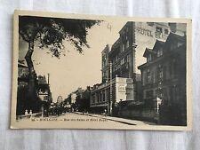 cpa 14 Houlgate - rue des bains et hôtel royal