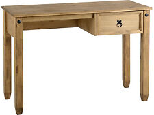Seconique Mexican CORONA Study Desk With 1 Drawer - Distressed Waxed Pine