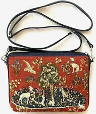 BELGIAN TAPESTRY EVENING STYLE BAG 22 X 16CM, MILANI TREE WITH ANIMALS, 00988