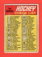 1970-71 OPC O-Pee-Chee #24 Checklist marked Filler B