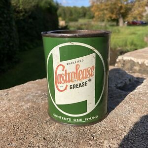 Vintage Wakefield Castrolease Grease Tin 4 Oz Very Rare.