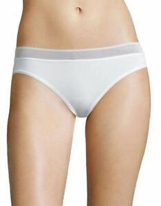 DKNY Intimates Womens Signature Seamless Bikini White Size Large