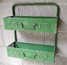 Industrial Vintage Style Metal Wall Shelf Unit Storage Cabinet Kitchen Bathroom