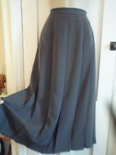 Ladies size 12 Marks & Spencer Grey Mix long pleated smart winter skirt