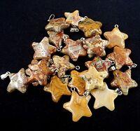 41x18x2mm 8Pcs New Carved Tibetan silver Star Half-Moon Pendant Bead  NN360