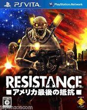 Used PS Vita Resistance: America Saigo no Teiko SONY PLAYSTATION JAPANESE IMPORT