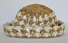PRADA Bi-Color Crocheted Raffia Bucket Sun Hat
