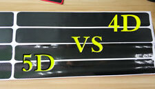 Car 5D Carbon Fiber Black Scuff Plate Door Sill Cover Panel Step Protector Guard