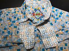 Mens Robert Graham X L/S Button Front Shirt Size Large (L) Contrast - Checkered