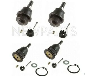 Moog Set of Upper & Lower Suspension Ball Joints 4pcs for Chevrolet GMC Hummer