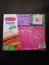 New Rubbermaid Lunch Blox Kids Lunch Kit BPA Free Sandwich Snack Containers