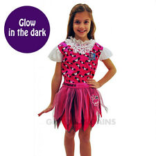 Monster High Draculaura Costume Glow in the Dark Girls Halloween Fancy Dress 6-8