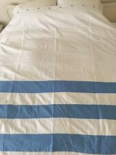 Kate Spade Blue And White Striped Shower Curtain Never Used