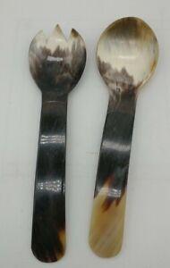 2 serving spoons Natural Spoon Wood Handle Kitchen Utensil western cowboy