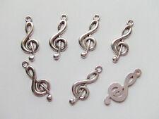 7pz charms ciondoli musica nota  colore argento tibet  26x10mm