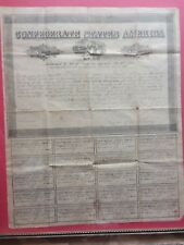 Complete Uncut 1864 $1,000 Confederate States of America Loan Bond & Coupons