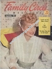 LUCILLE BALL  - FAMILY CIRCLE MAGAZINE - SEP 1953
