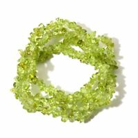 Multilayer Peridot Chips Necklace Wrap Stretch Bracelet Bangle Wristband Jewelry