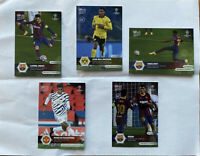 2020 UCL Topps Now UEFA Champions League Card Set #1-5 Messi Pedri Bellingham