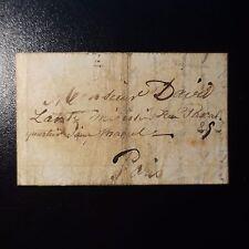 1849 LETTRE COVER DE PRISONNIER PARISIEN DÉTENU A LA CASERNE DE TOURCOING