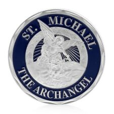 Saint Michael The Archangel Commemorative Challenge Coin Collection Gift Silvery
