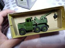 Original Vintage DINKY SUPERTOYS Military RECOVERY TRACTOR #661 Army Tow Truck