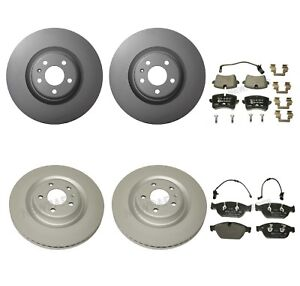 For Audi A6 A7 Quattro Front and Rear Disc Brake Rotors and Pad Sets Ate Kit